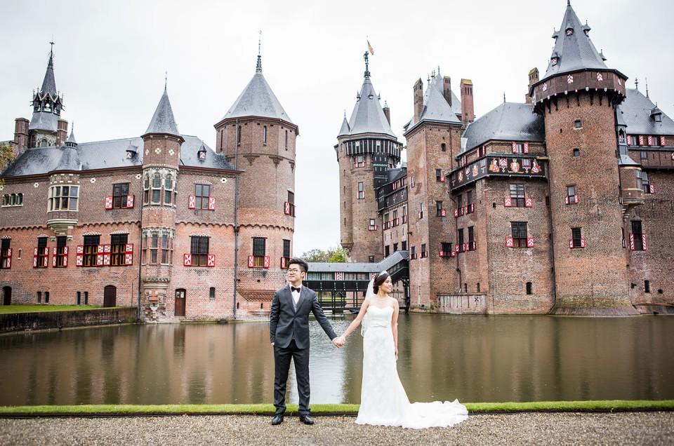 Minn + Ian  |  Kasteel de Haar Prewedding Castle Photoshoot