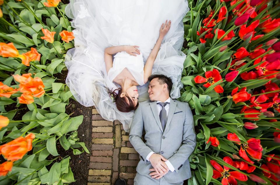 Crista + Kuosiang  |  Keukenhof & Zaanse Schans Prewedding Shoot