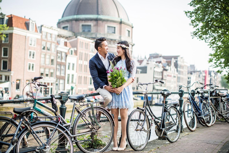 Amsterdam engagement photoshoot