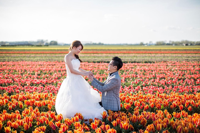11-Keukenhof-pre-wedding-tulips