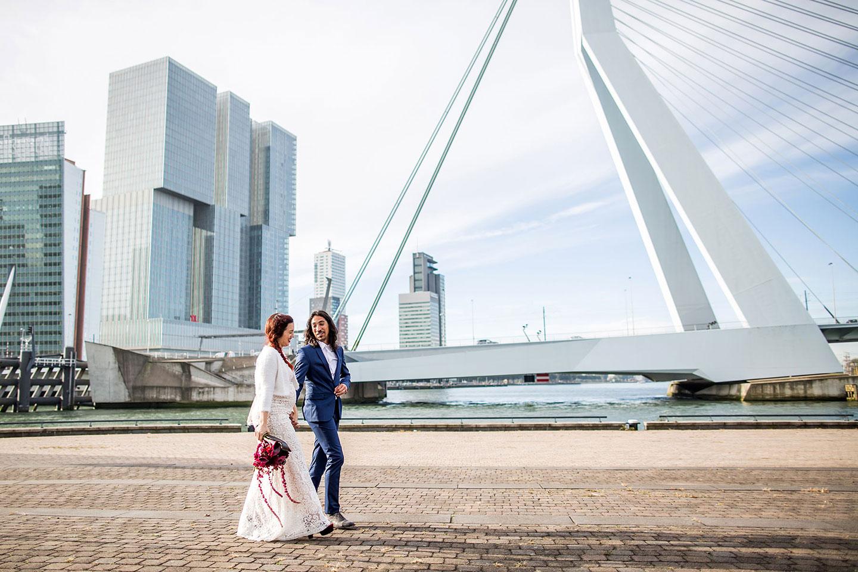 Bruidsfotografie Rotterdam - Erasmusbrug