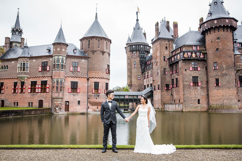 Pre wedding photography Europe castle