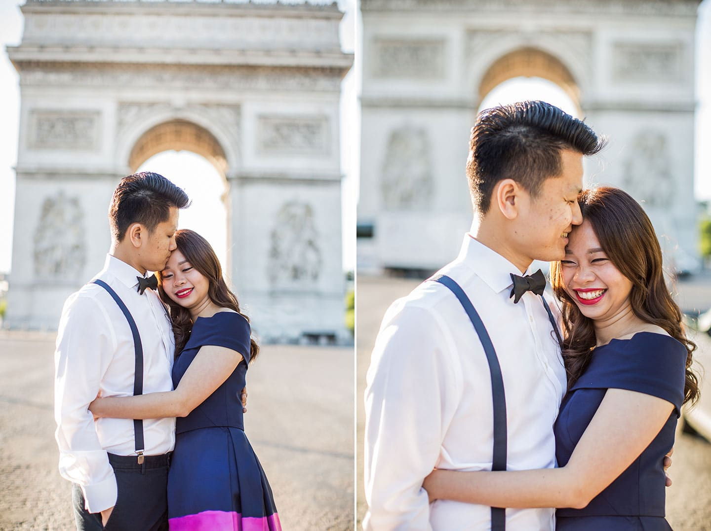 Pre wedding Paris Arc de Triomphe