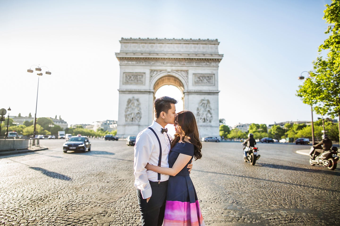Engagement photo shoot in Paris France