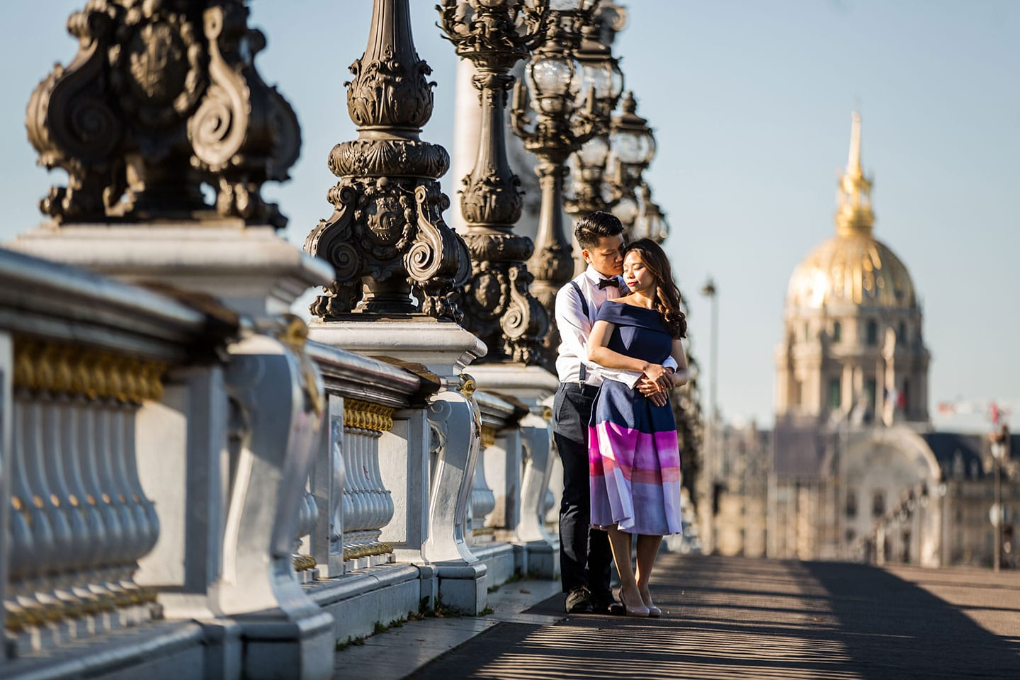 Romantic pre wedding photography in Paris, France