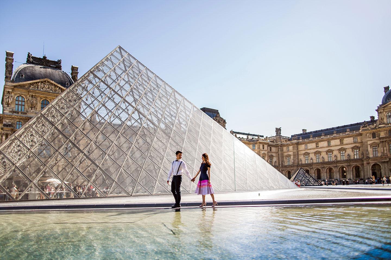 Paris Pre Wedding Louvre Museum