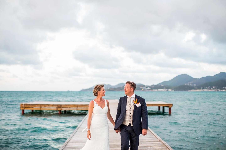 Sandra Steve St Maarten Martin Destination Wedding