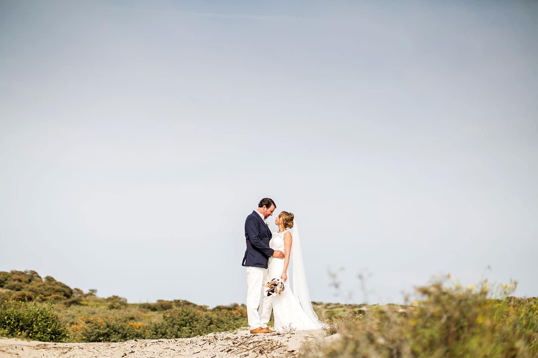 Bruidsfotografie strand Kijkduin