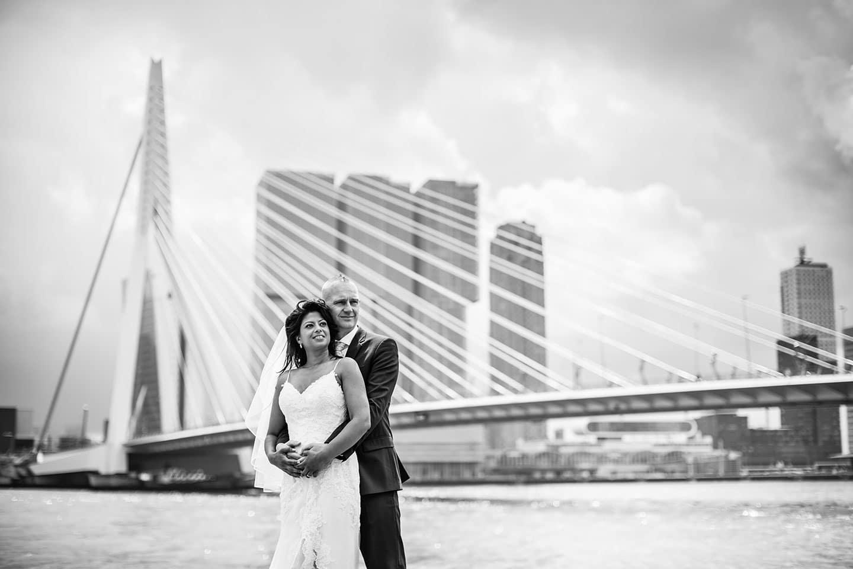 Bruidsfotografie Rotterdam Erasmusbrug