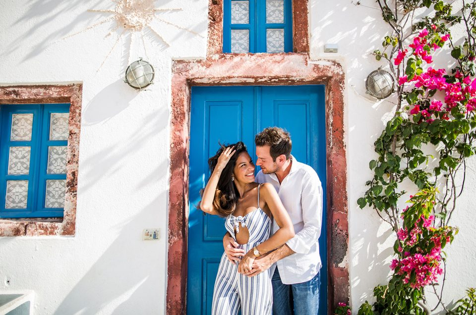 Andrea + Richard | Santorini Love Shoot