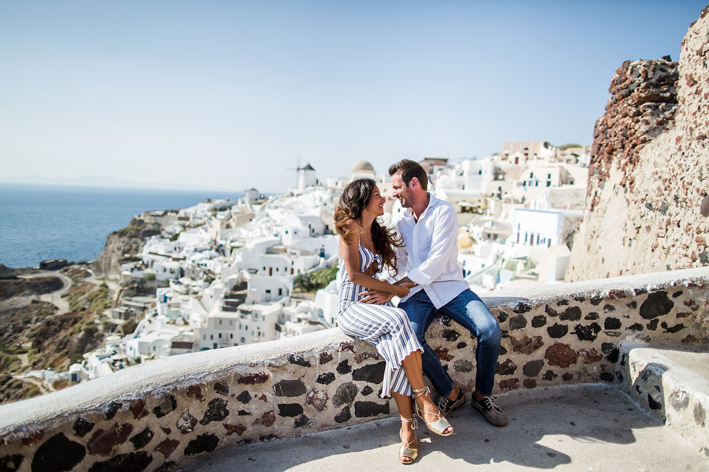 Santorini prewedding photography