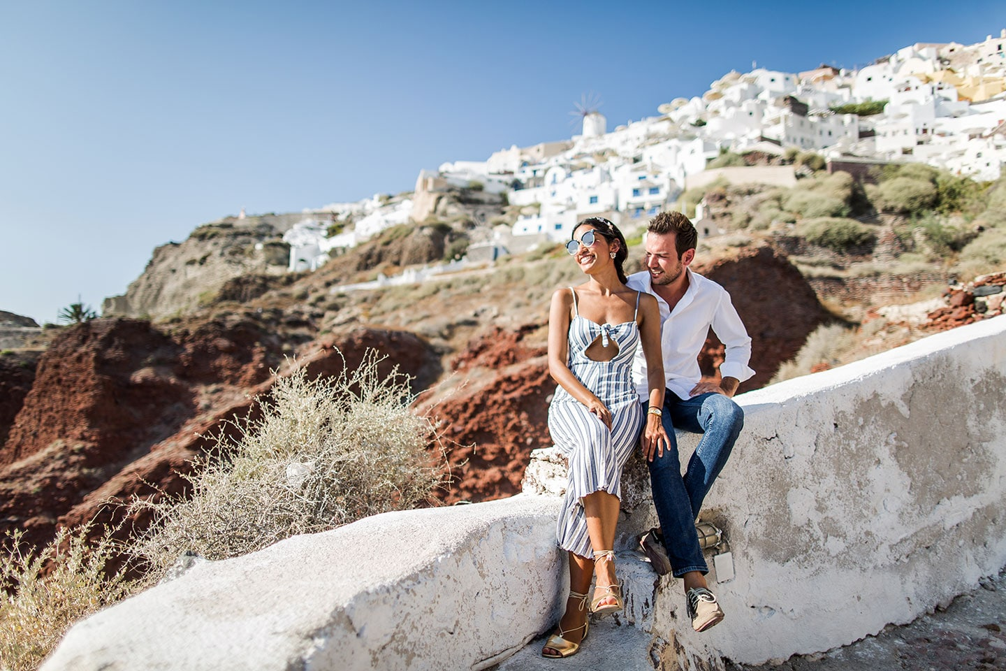 Engagement shoot in Santorini Greece