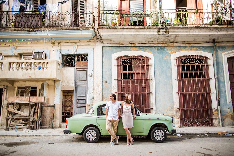 Engagement shoot Havana Cuba