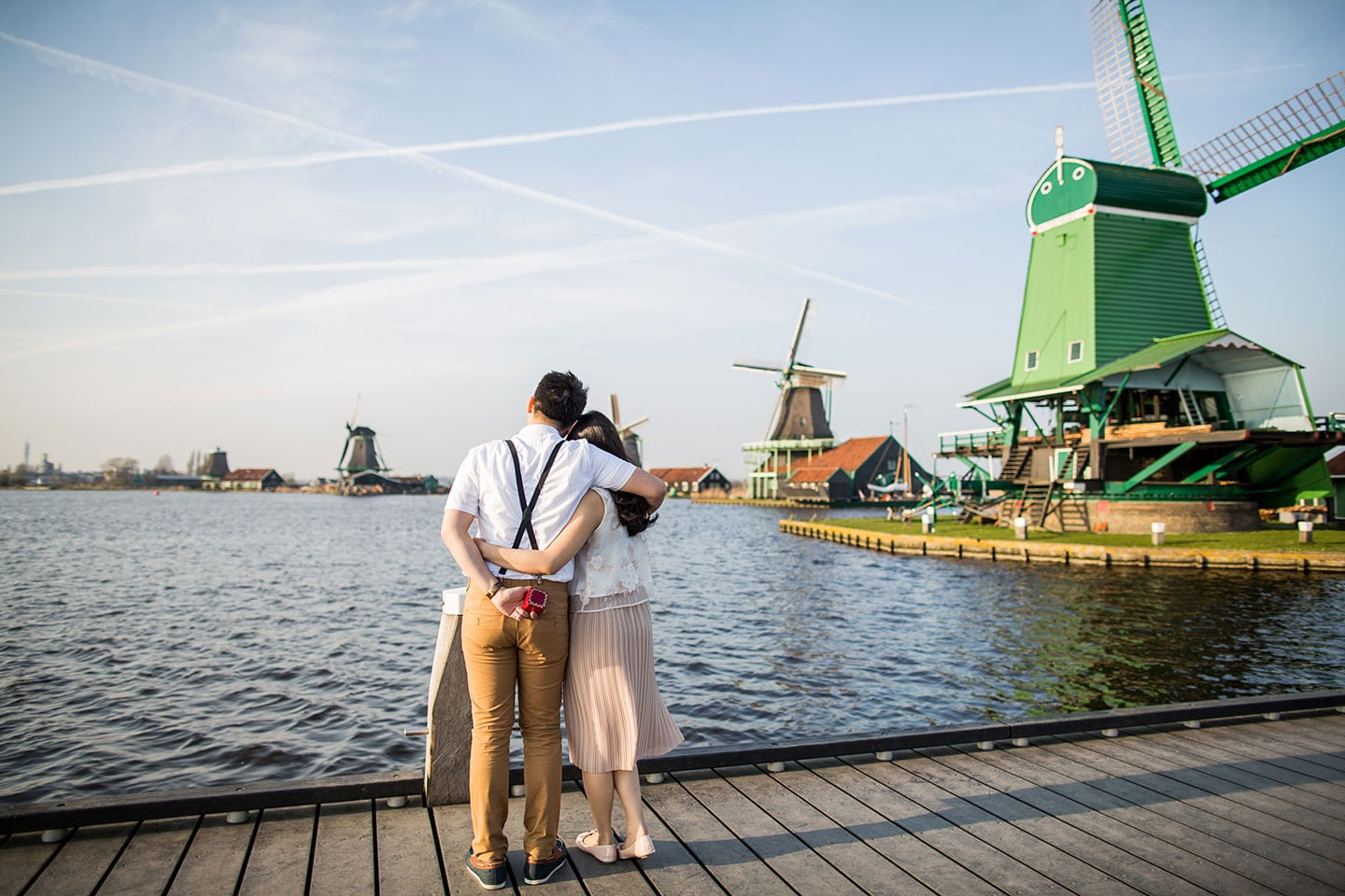 Windmill prewedding shoot Holland