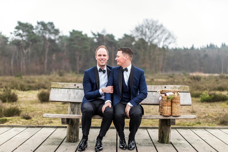 Bruiloft fotograaf twee mannen