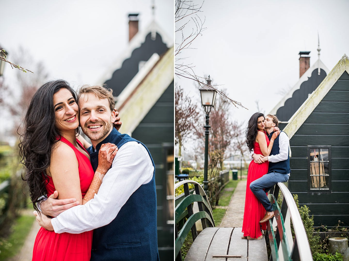 Prewedding windmill village Netherlands