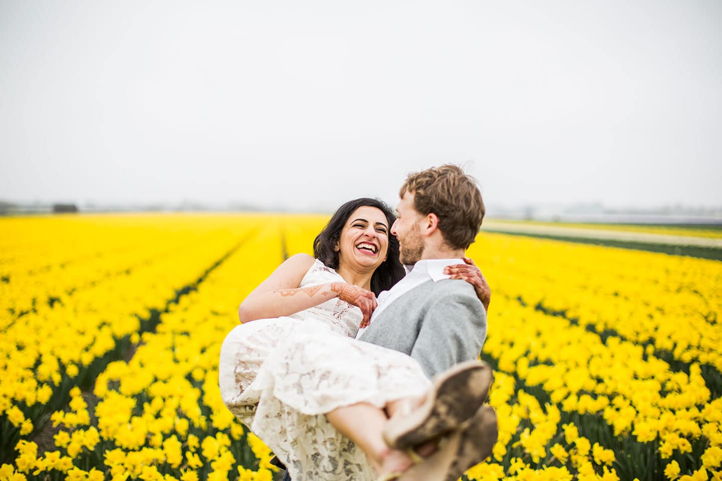 Prewedding Photoshoot Netherlands Flower fields