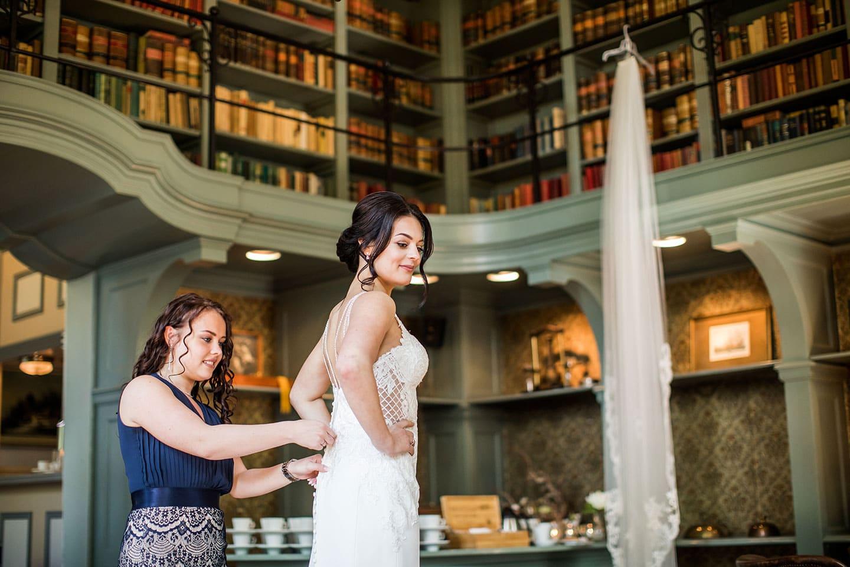 Bruidsfoto's bij Kasteel Wijenburg