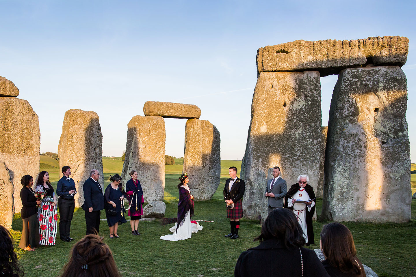 Stonehenge wedding inner circle
