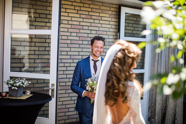 Thuis trouwen in de tuin