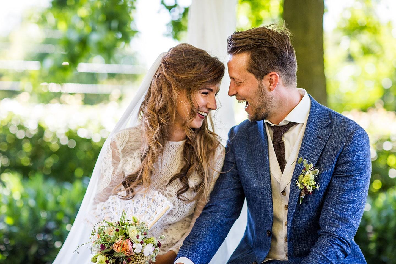 Bruiloft in de tuin fotografie