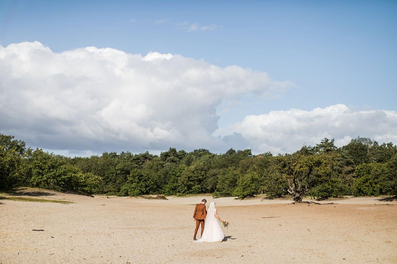 Bruidsreportage zandduinen