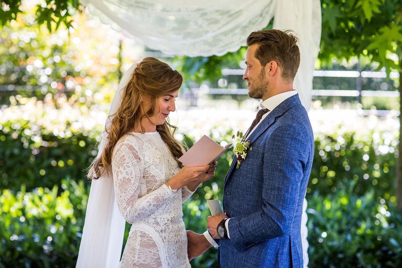 Bruidsreportage tuin bruiloft