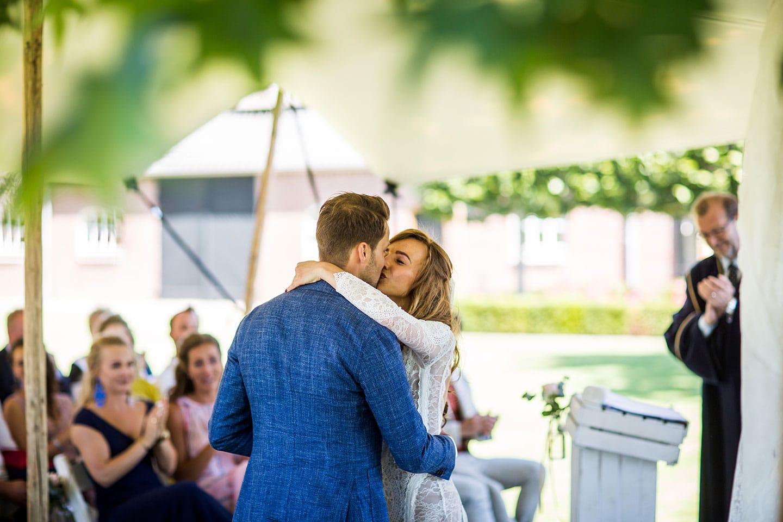 Bruiloft in je eigen tuin fotograaf