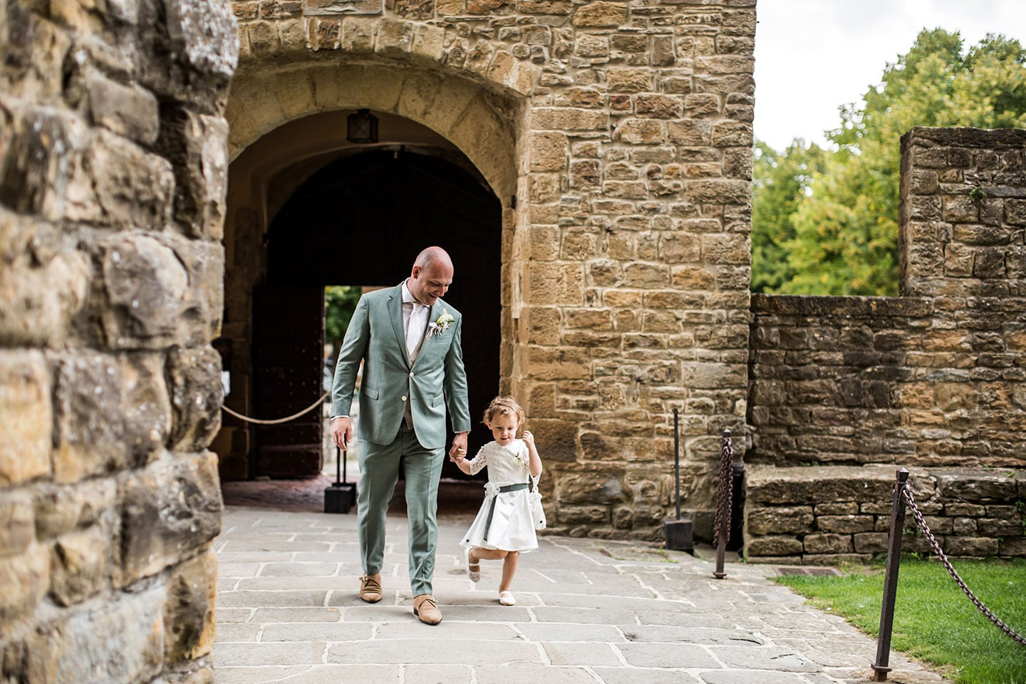 Groom and daughter wedding in Italy