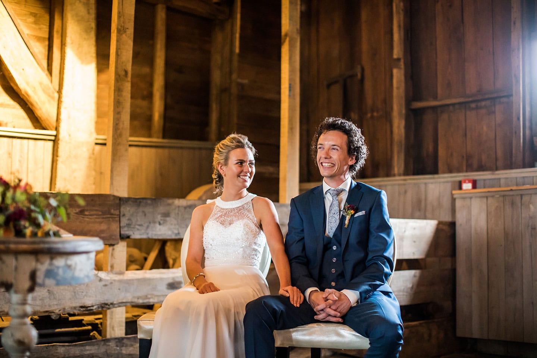Ceremonie bruiloft Watermolen van Opwetten