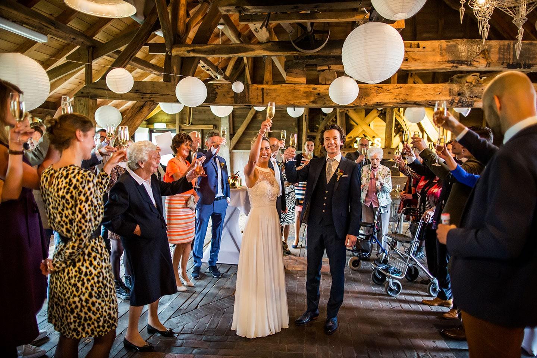 Toast bruiloft Watermolen van Opwetten