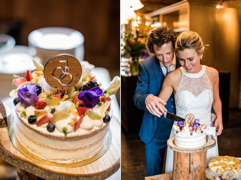 Bruidstaart bruiloft Watermolen van Opwetten