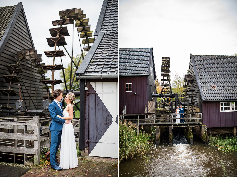 Bruidsfotografie bij de Watermolen van Opwetten