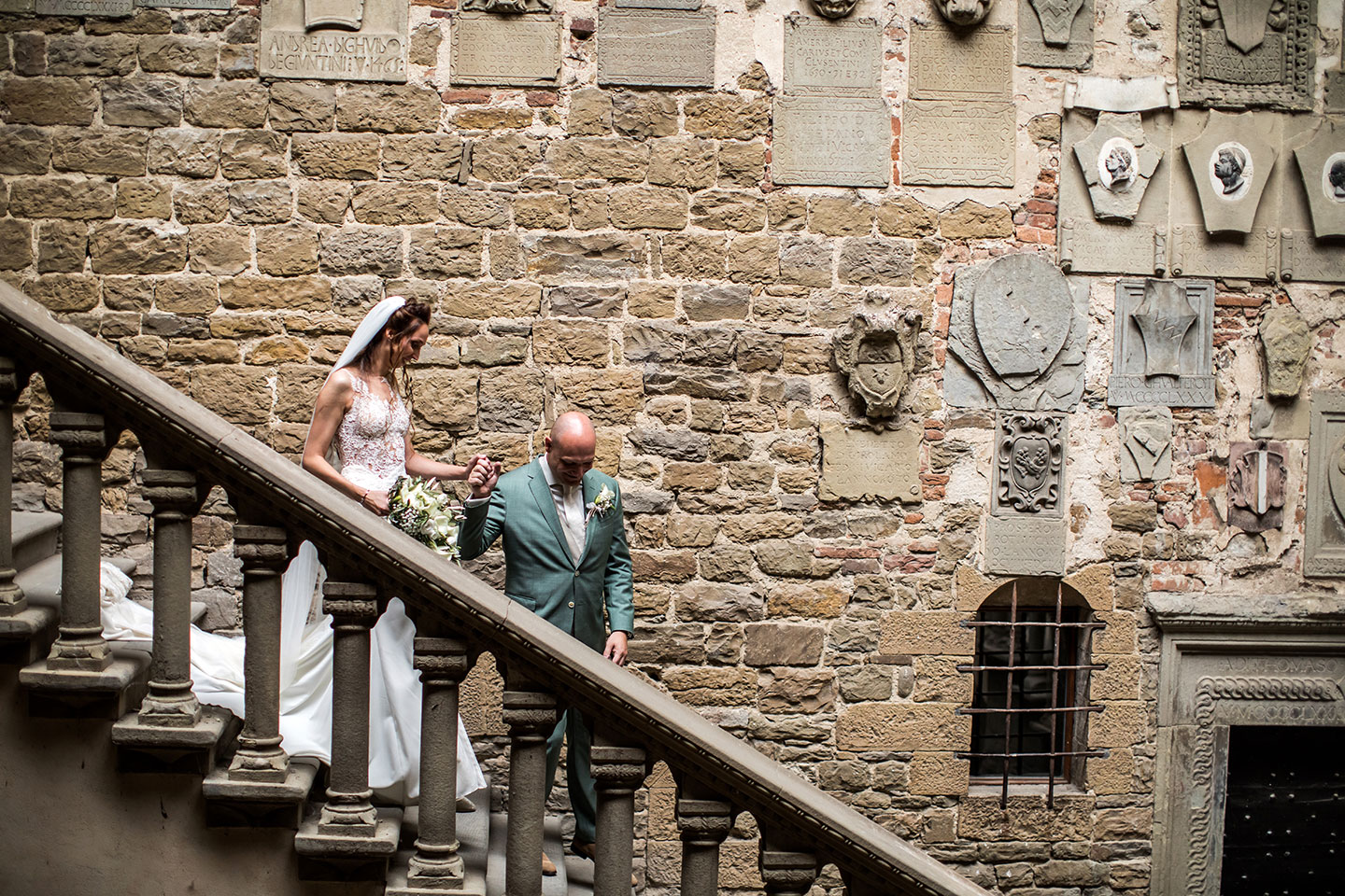 Medieval castle wedding Tuscany Italy