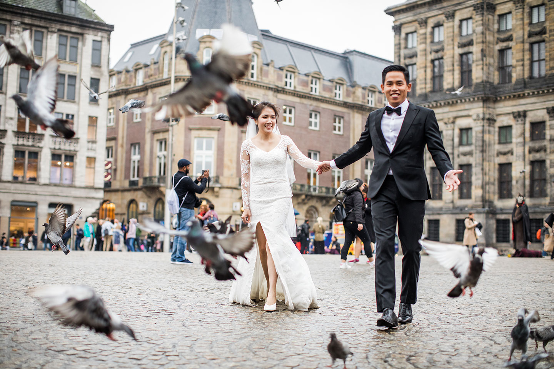Overseas prewedding in Amsterdam