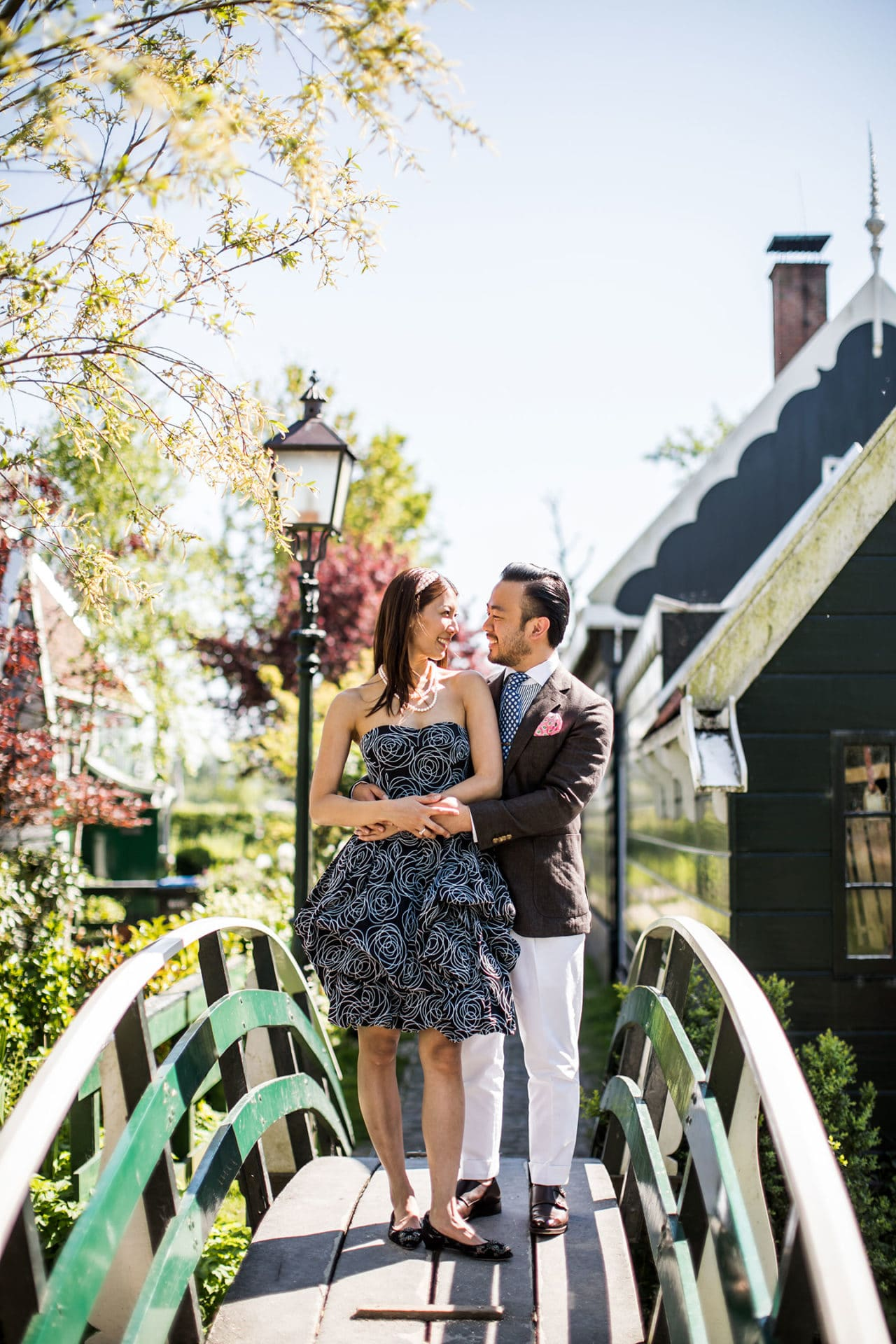Prewedding photography windmill village Holland