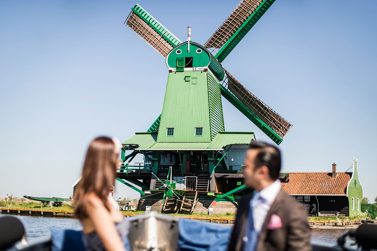 Windmill prewedding Europe