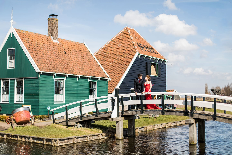 Amsterdam & Zaanse Schans prewedding couple photoshoot