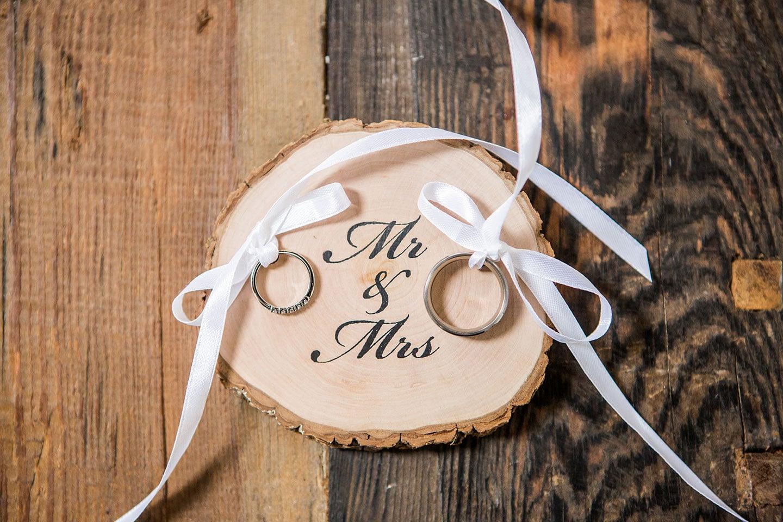 Bruidsdecoratie trouwringen