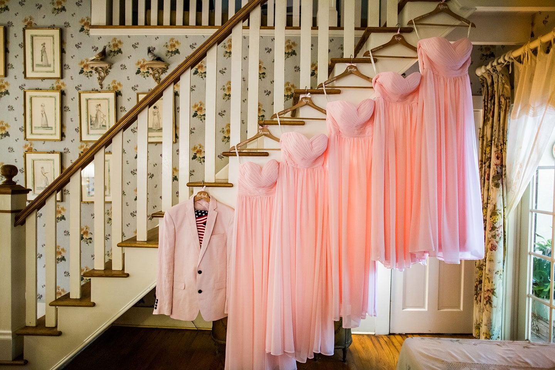 Historic Walton House Wedding Bridesmaids dresses