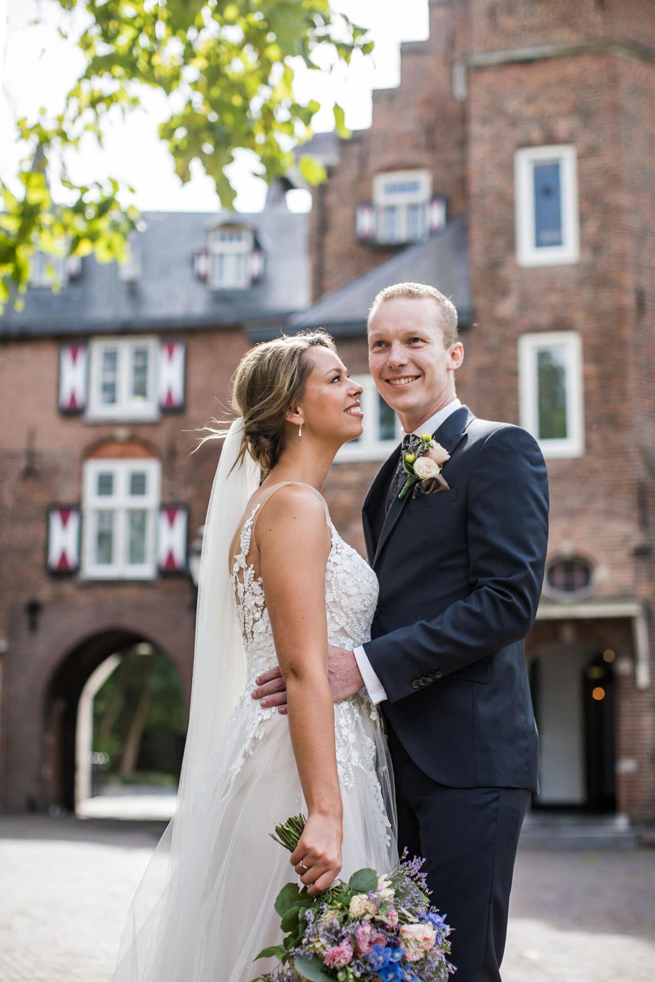 Bruidsreportage bij Kasteel Maurick in Vught