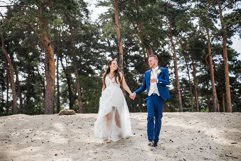 Bruidspaar bij Soesterduinen