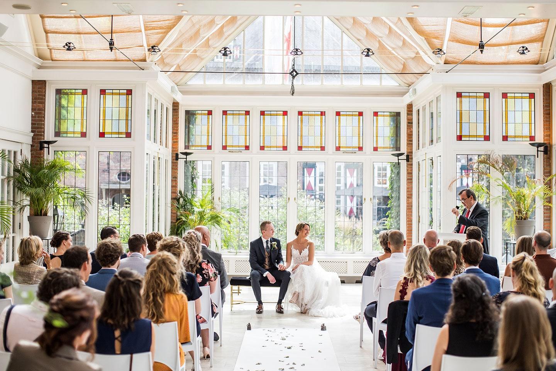 Ceremonie bruiloft bij Kasteel Maurick