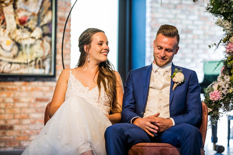 Ceremonie bruiloft Landgoederij