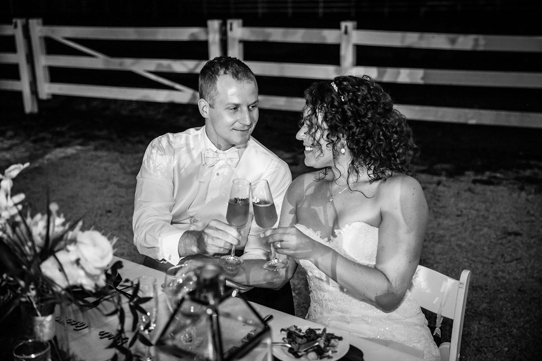 Bridal couple wedding dinner Historic Walton House